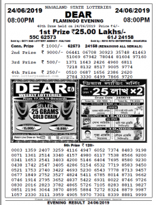 24 June 2019 Lottery Sambad Today 8pm